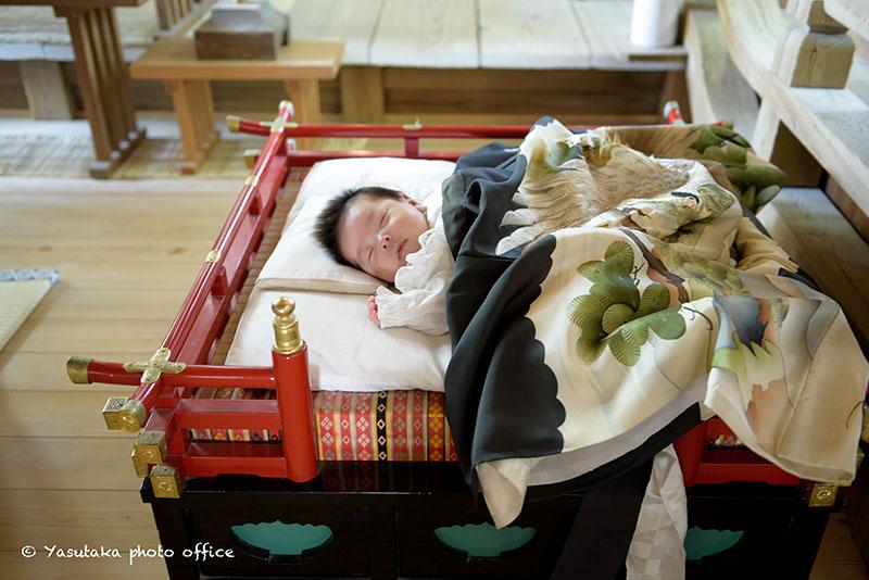 糸島市の産宮神社での初宮参り出張撮影