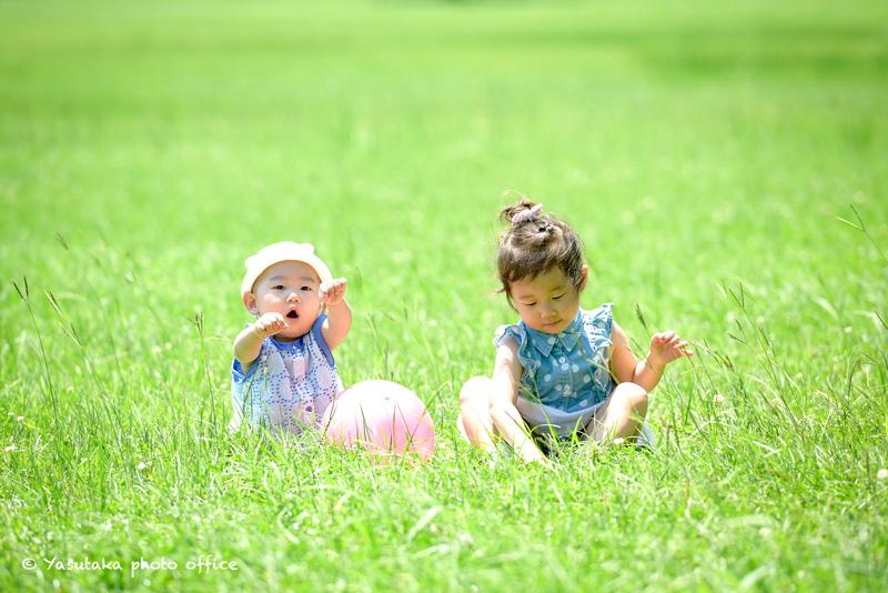 水前寺江津湖公園での家族写真撮影