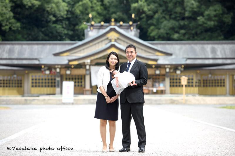 福岡縣護国神社でのお宮参出張撮影