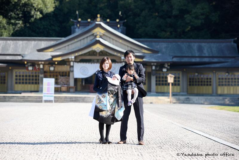 護国神社でのお宮参り撮影