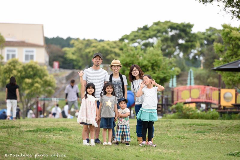長崎あぐりの丘での家族写真撮影
