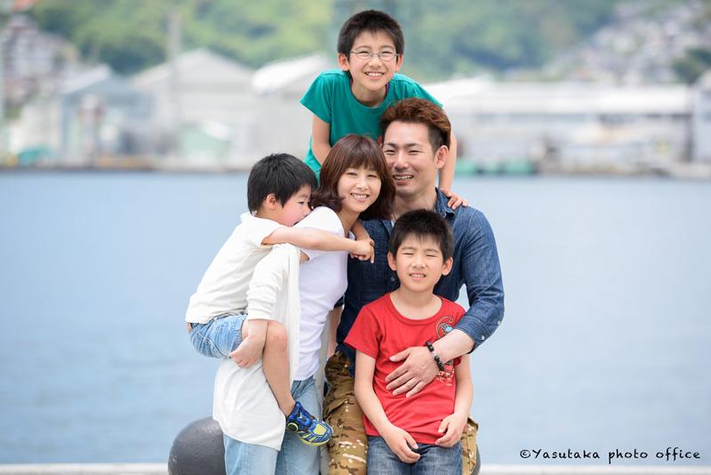長崎水辺の森公園での家族写真撮影