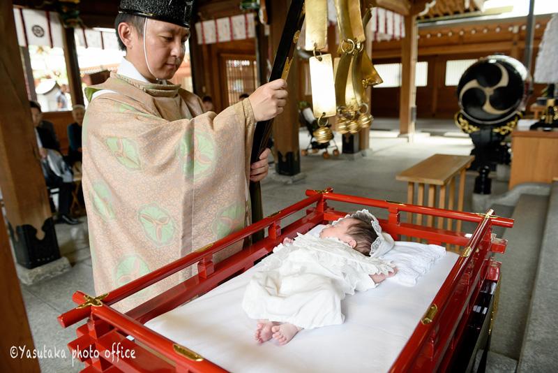 櫛田神社でのお宮参り出張撮影