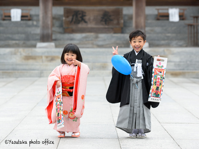 宮地嶽神社での七五三出張撮影