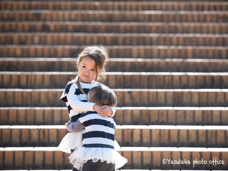 福岡市植物園での家族写真撮影