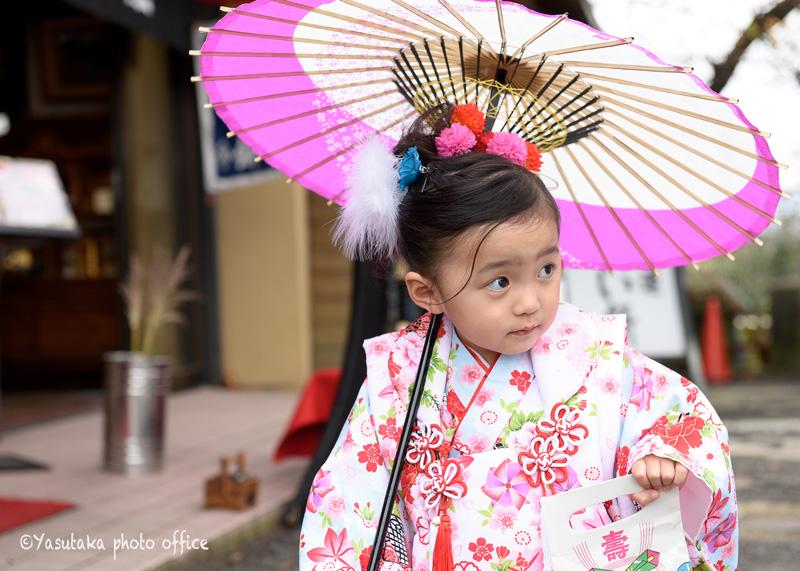 福岡の愛宕神社での七五三撮影