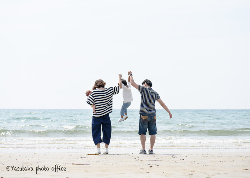 親子の日撮影会(福間海岸のカフェHOTSUNS)1日目