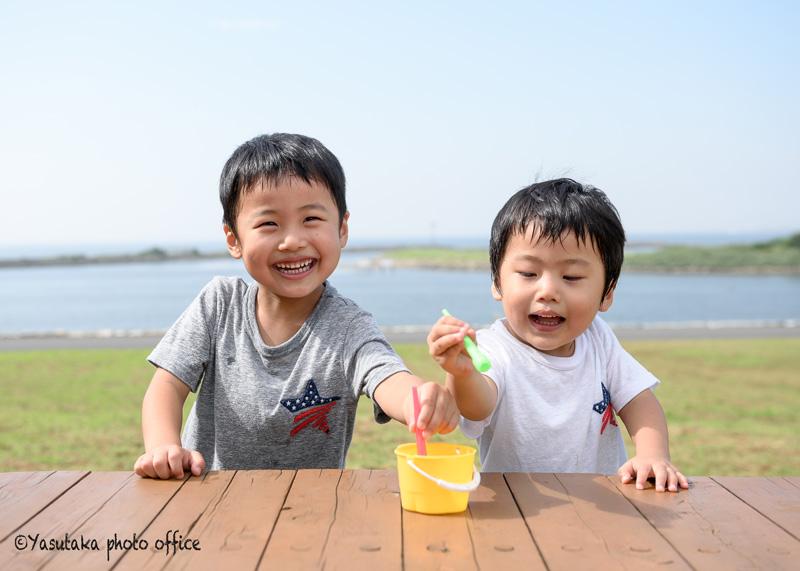 葛西臨海公園での七五三記念写真