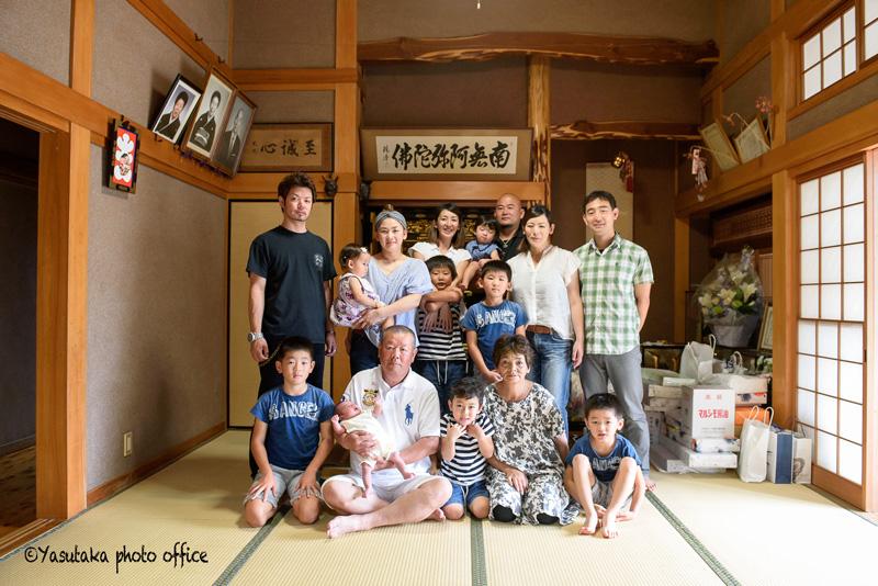 大分県玖珠町での家族写真出張撮影
