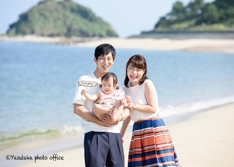 志賀島での1歳お誕生日撮影