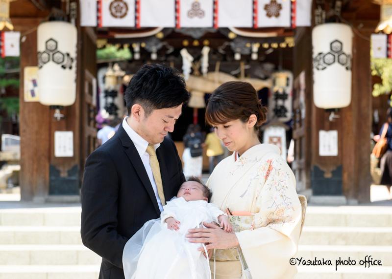 櫛田神社でのお宮参り撮影
