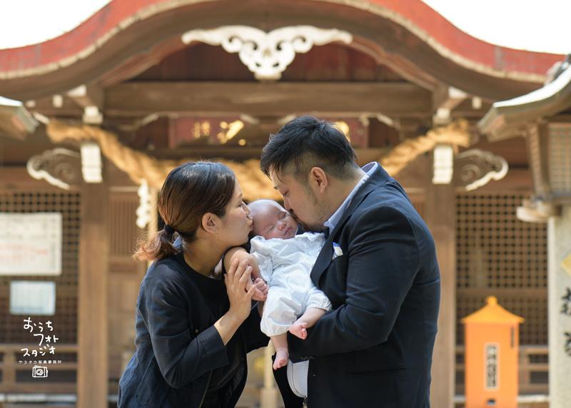 筑紫神社でのお宮参り撮影(2018年6月)