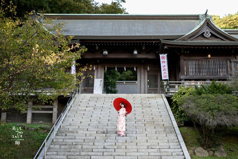 高見神社での成人式前撮り