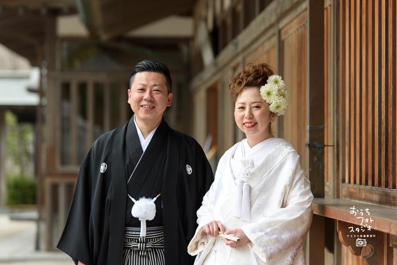 十日恵比神社での神前結婚式撮影