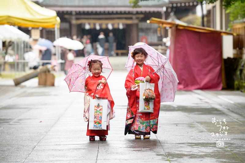 熊本市健軍神社での七五三出張撮影(2017年10月)
