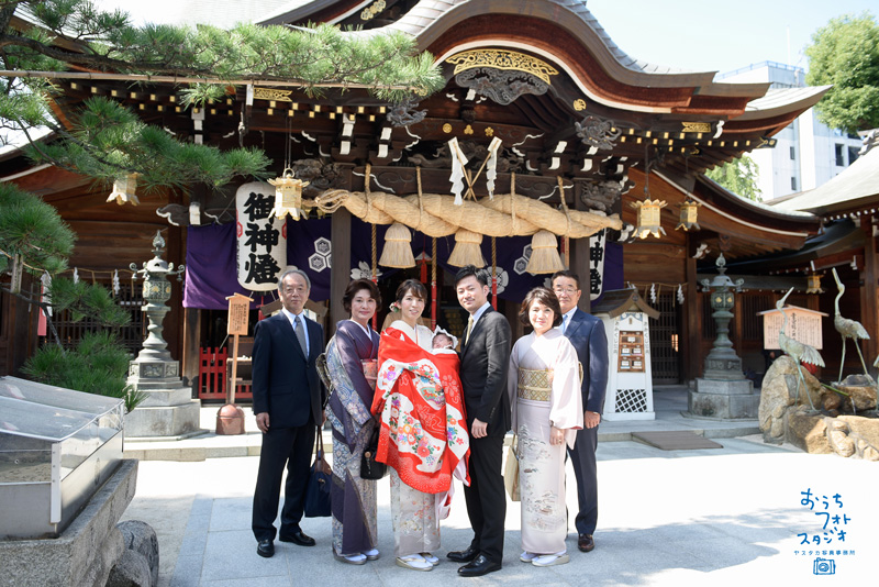 櫛田神社でのお宮参り撮影(2017年10月)