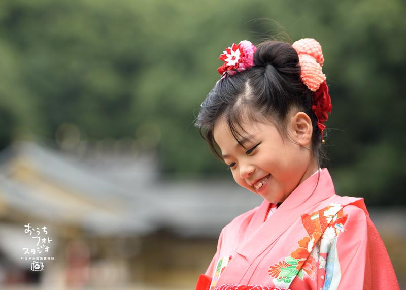 護国神社での7歳の七五三出張撮影(2017年10月)