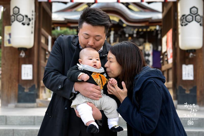 櫛田神社でのお宮参り出張撮影(2017年11月)
