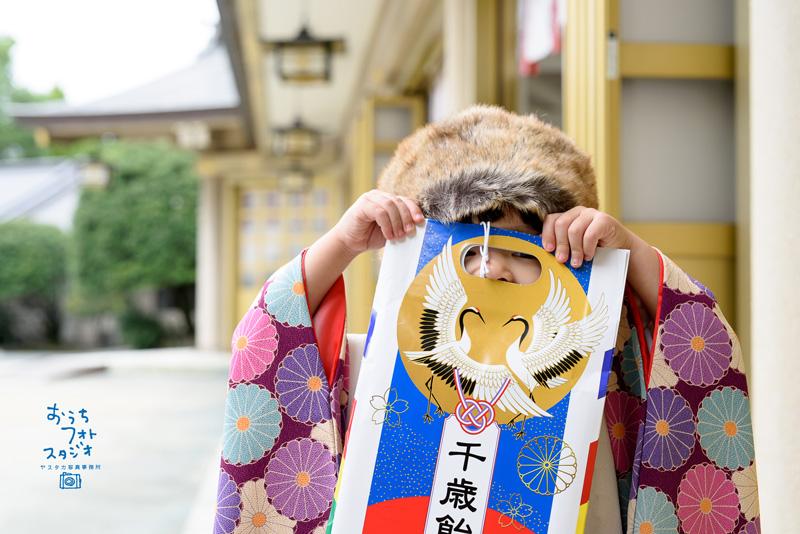 護国神社での七五三出張撮影(2017年10月)