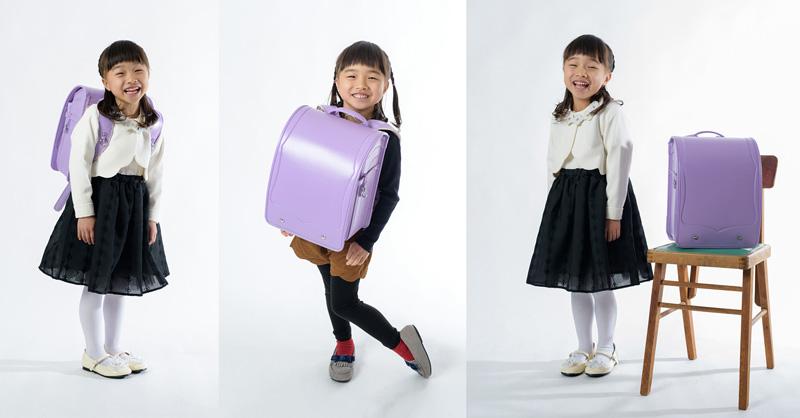 新入学記念のランドセル撮影