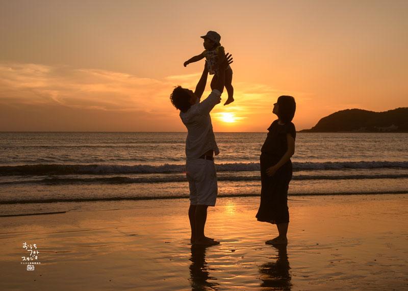 福間海岸の夕日はとても綺麗