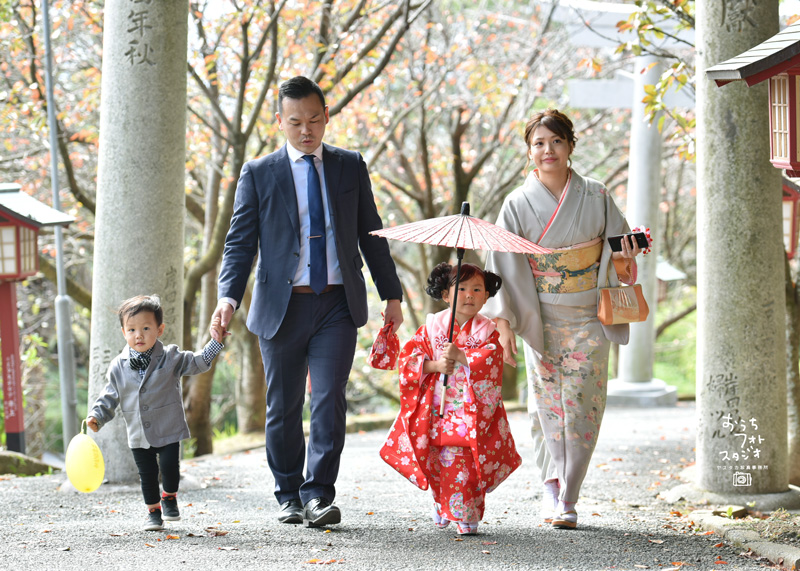 宮地嶽神社での七五三出張撮影(2018年11月)