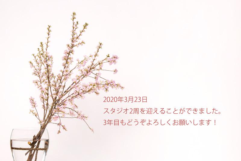 3月23日でスタジオは2周年